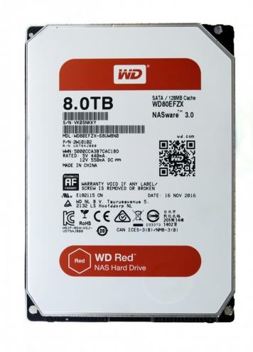 "Жесткий диск Western Digital WD80EFZX 8Tb 5400 SATAIII 3.5"" HDD"