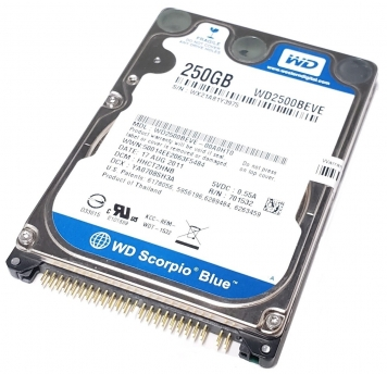 "Жесткий диск Western Digital WD2500BEVE 250Gb 5400 IDE 2,5"" HDD"