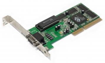 Видеокарта ATI 3DRageProTurbo 4)Mb PCI