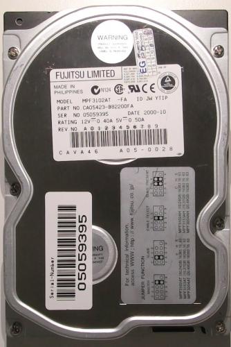 "Жесткий диск Fujitsu MPF3102AT 10,2Gb 5400 IDE 3.5"" HDD"