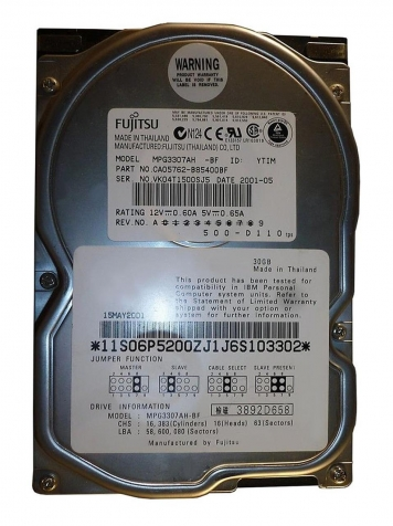 "Жесткий диск Fujitsu MPG3307AH 30,7Gb 7200 IDE 3.5"" HDD"