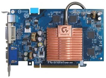 Видеокарта Gigabyte GV-NX76T128D-RH 128Mb PCI-E16x GDDR3