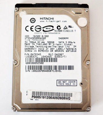 "Жесткий диск Hitachi HTS545050B9A300 500Gb 5400 SATAII 2,5"" HDD"