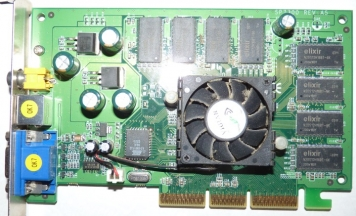 Видеокарта Sparkle SP7300M4T 64Mb AGP8x DDR