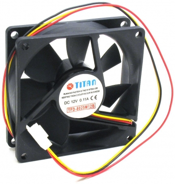 Вентилятор Titan TFD-8025M12B 12v 80x80x25mm  2500