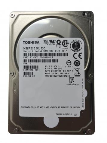 "Жесткий диск Toshiba MBF260LRC 600Gb  SAS 2,5"" HDD"