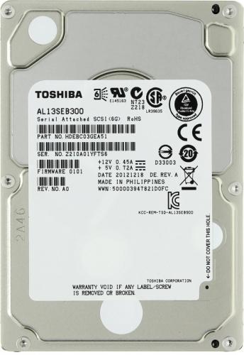 "Жесткий диск Toshiba AL13SEB300 300Gb  SAS 2,5"" HDD"