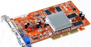 Видеокарта ASUS A9550/TD/128M/A 128Mb AGP8x DDR