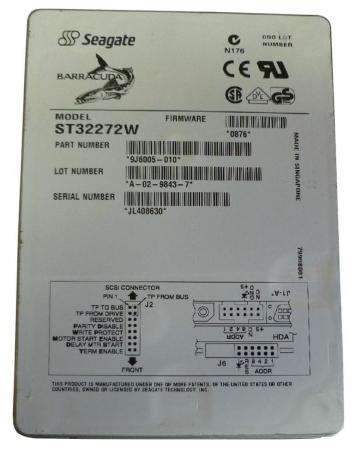 """Жесткий диск Seagate ST32272W 2,3Gb 7200 U160SCSI 3.5"""" HDD"""
