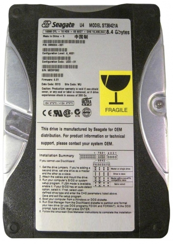"Жесткий диск Seagate ST38421A 8,4Gb 5400 IDE 3.5"" HDD"