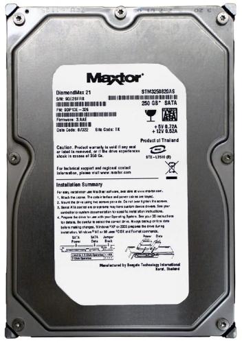 """Жесткий диск Maxtor 6A250E0 250Gb 7200 SATAII 3.5"""" HDD"""